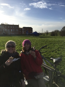 Edna and Elsie with their sandwiches